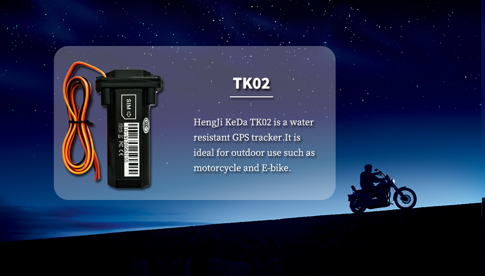water proof GPS tracker for motorcycle and E-bike