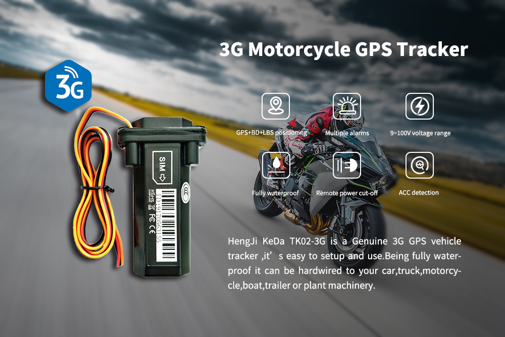 3G motorcycle GPS tracker