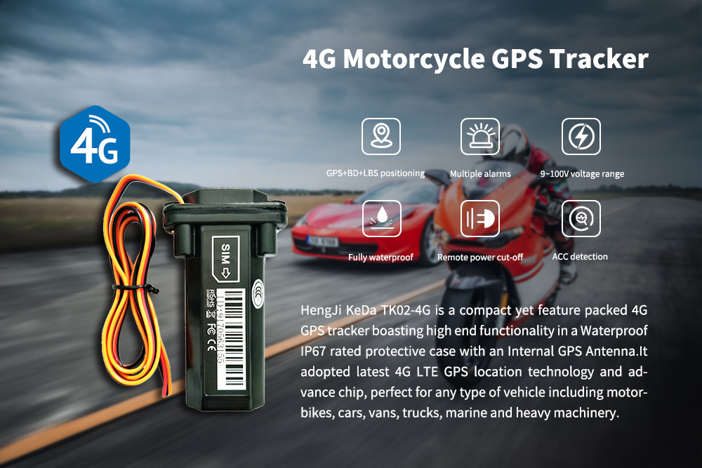4G motorcycle GPS tracker